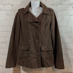 Mossimo Supply Co. Brown Cotton Peacoat Jacket M